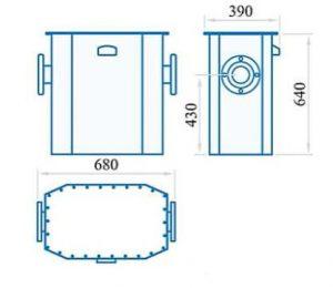 ابعاد کنتور گاز دیافراگمی گازسوزان کد G40