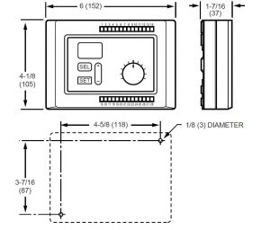 ابعاد کنترلر دما هانیول سری Micronik200 - پیشرو صنعت آزما