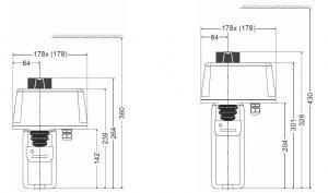 ابعاد محرک الکتریکی شیر هانیول سری ML7421 - پیشرو صنعت آزما