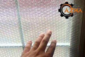 دوجداره کردن پنجره با نایلون حبابدار -پیشرو صنعت آزما