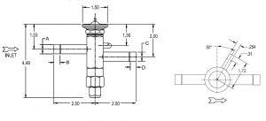 ابعاد شیر انبساط ( اکسپنشن ولو TFE ( expansion valve آلکو ALCO