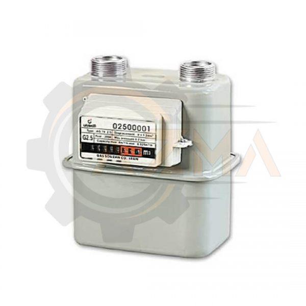 کنتور گاز دیافراگمی گازسوزان کد G2.5 / GS-84-02.5A-پیشرو صنعت آزما