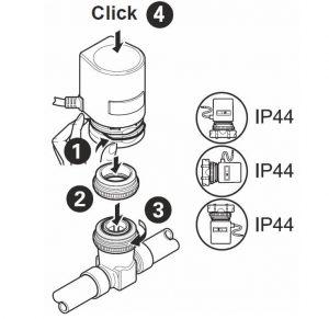 موقعیت نصب محرک الکتریکی شیر هانیول سری MT4-230 - پیشرو صنعت آزما