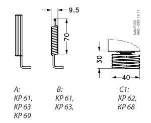 ابعاد غلاف ترموستات دانفوس Danfoss کد KP61 - پیشرو صنعت آزما