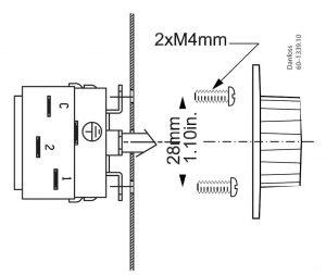 اطلاعات جهت نصب ترموستات دانفوس Danfoss کد UT 72 - پیشرو صنعت آزما
