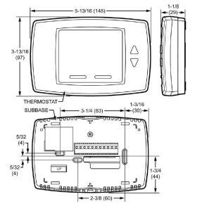 ابعاد ترموستات فن کوئل دیجیتال هانیول مدل T6590 - پیشرو صنعت آزما