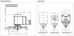 ابعاد 2 شیر برقی دانفوس Danfoss کد EVR 3 - پیشرو صنعت آزما
