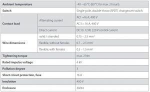 جدول مشخصات ترموستات دانفوس Danfoss کد KP61 - پیشرو صنعت آزما