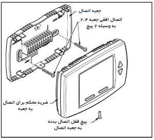 نحوه نصب ترموستات فن کوئل دیجیتال هانیول مدل T6590 - پیشرو صنعت آزما