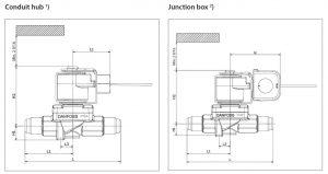 ابعاد شیر برقی مهرهای دانفوس Danfoss کد EVR 15 - پیشرو صنعت آزما