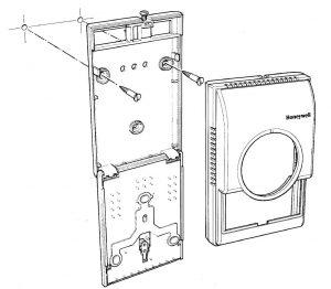 نحوه نصب ترموستات اتاقی فن کوئل هانیول کد T6373 - پیشرو صنعت آزما
