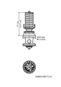 ابعاد سوزن شیر انبساط ( اکسپنشن ولو ) دانفوس Danfoss کد TE 20 - پیشرو صنعت آزما