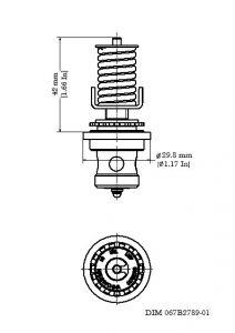 ابعاد سوزن شیر انبساط ( اکسپنشن ولو ) دانفوس Danfoss کد TE 5 - پیشرو صنعت آزما