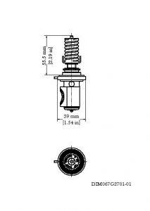 ابعاد سوزن شیر انبساط ( اکسپنشن ولو ) دانفوس Danfoss کد TE 55 - پیشرو صنعت آزما