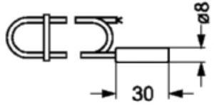 ابعاد سنسور دما دانفوس Danfoss مدل EKS 211 کد 084B4403 - پیشرو صنعت آزما