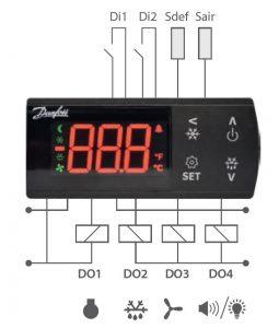 نحوه نصب کنترلر دما دانفوس Danfoss مدل ERC - پیشرو صنعت آزما