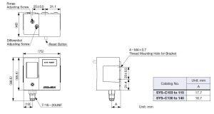 ابعاد پرشر سوئیچساگینومیا saginomiya کد SYS - پیشرو صنعت آزما