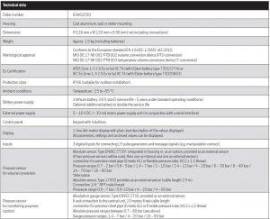 مشخصات تصحیح کننده حجم گاز الستر جیوانزelster jeavons مدل EK220 - پیشرو صنعت آزما