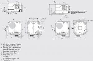 ابعاد پرشر سوئیچ هوا دانگز DUNGS مدل LGW A2 - پیشرو صنعت آزما