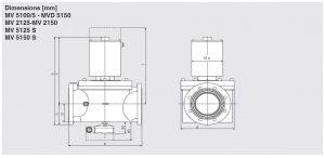 ابعاد شیر برقی تکضرب تک مرحله دانگز DUNGS مدل MVD-MV - پیشرو صنعت آزما
