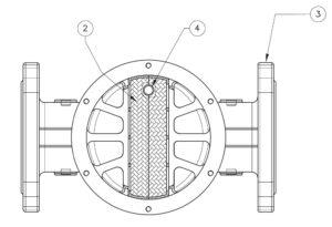 بخش مختلف 6 فیلتر گاز ماداس MADAS مدل FGM - پیشرو صنعت آزما