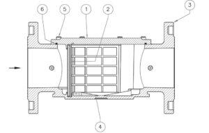 بخش مختلف فیلتر گاز ماداس MADAS مدل FM - پیشرو صنعت آزما
