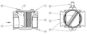 بخش مختلف فیلتر گاز ماداس MADAS مدل FMC - پیشرو صنعت آزما