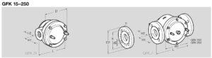 ابعاد فیلتر گاز کروم شرودر krom schroder مدل GFK - پیشرو صنعت آزما