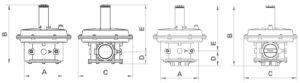 ابعاد 2 بالانسر گاز ماداس MADAS مدل RG/2MC - FRG/2MC - پیشرو صنعت آزما