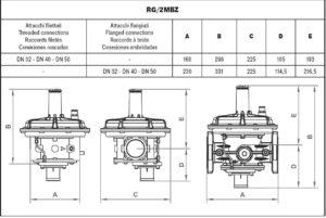 ابعاد 2 رگلاتور گاز ماداس MADAS مدل RG/2MCS - RG/2MBZ - پیشرو صنعت آزما