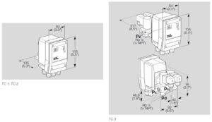 ابعاد نشت یاب گازکروم شرودرkrom schroder مدلTC - پیشرو صنعت آزما