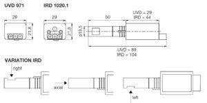 ابعاد 2 رله مشعل گازی هانیول Honeywell مدل DKG 972 - پیشرو صنعت آزما