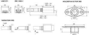 ابعاد 2 رله مشعل گازی هانیول Honeywell مدل DLG 974 یا DLG 976 - پیشرو صنعت آزما