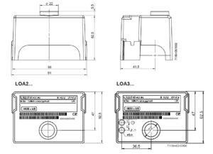 ابعاد رله مشعل گازی زیمنس SIEMENS مدل LOA 24 - پیشرو صنعت آزما