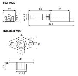 ابعاد 2 رله مشعل گازی هانیول Honeywell مدل MMG 810.1 یا MMG 811.1 - پیشرو صنعت آزما