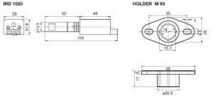 ابعاد 2 رله مشعل گازی هانیول Honeywell مدل MMI 962.1 - پیشرو صنعت آزما