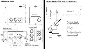 ابعاد رله مشعل گازی هانیول Honeywell مدل MMI 962.1 - پیشرو صنعت آزما