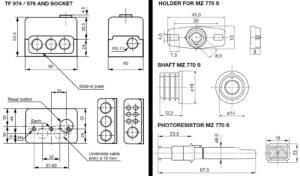 ابعاد رله مشعل گازی هانیول Honeywell مدل TF 974 یا TF 976 - پیشرو صنعت آزما