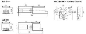 ابعاد 2 رله مشعل گازی هانیول Honeywell مدل TF 974 یا TF 976 - پیشرو صنعت آزما