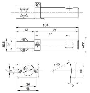 ابعاد فتوسل (آشکار ساز شعله) هانیول/ساترونیک Satronic/Honeywell مدل UVZ780 - پیشرو صنعت آزما