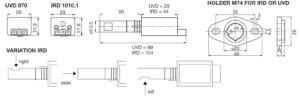 ابعاد 2 رله مشعل گازی هانیول Honeywell مدل DKO 970 یا DKO 972 - پیشرو صنعت آزما