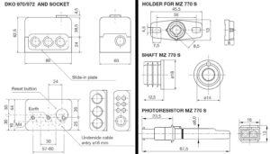 ابعاد رله مشعل گازی هانیول Honeywell مدل DKO 970 یا DKO 972 - پیشرو صنعت آزما