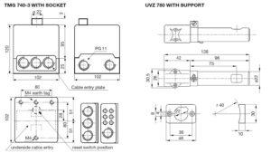 ابعاد رله مشعل گازی هانیول Honeywell مدل TMG 740.3 - پیشرو صنعت آزما