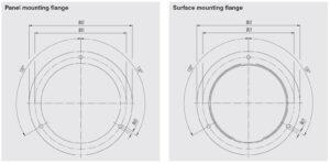 ابعاد فلنچ فشارسنج (مانومتر) ویکا WIKA مدل 232.50 , 233.50 - پیشرو صنعت آزما