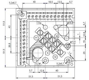 ابعاد 2 رله مشعل گازی زیمنس SIEMENS مدل LAL 2.25 - پیشرو صنعت آزما