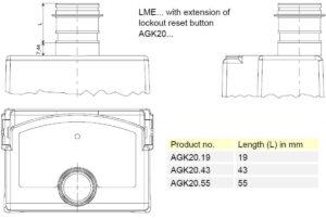 ابعاد 2 رله مشعل گازی زیمنس SIEMENS مدل LME 22 - پیشرو صنعت آزما