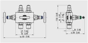 ابعاد شیر سوزنی(شیر تخلیه) ویکا WIKA مدل IV30 ، IV31 - پیشرو صنعت آزما