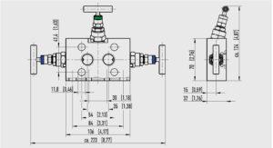 ابعاد 3 شیر سوزنی(شیر تخلیه) ویکا WIKA مدل IV30 ، IV31 - پیشرو صنعت آزما