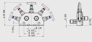 ابعاد 3 شیر سوزنی(شیر تخلیه) ویکا WIKA مدل IV50 ، IV51 - پیشرو صنعت آزما