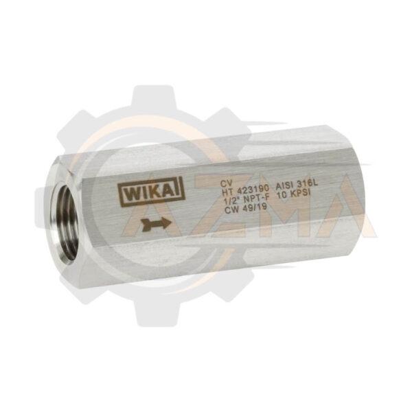 شیر یکطرفه(Check valve) ویکا WIKA مدل CV - پیشرو صنعت ازما